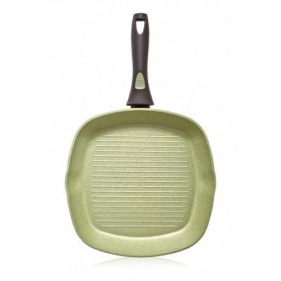 Сковорода-гриль Faberlic с антипригарным покрытием цвет Авокадо, 28см