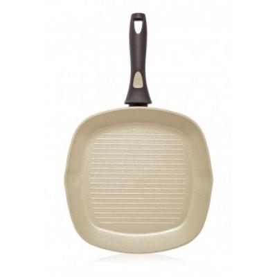Сковорода-гриль Faberlic с антипригарным покрытием цвет Оливковый, 28см