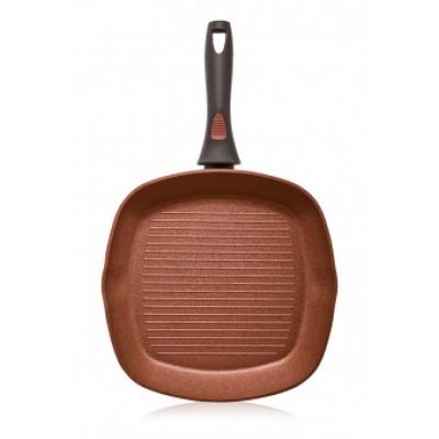 Сковорода-гриль Faberlic с антипригарным покрытием цвет Терракотовый, 28см