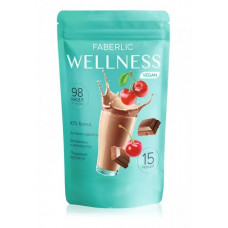 Протеиновый коктейль для веганов «Wellness» со вкусом вишня-шоколад