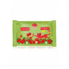 Детские влажные салфетки для рук «Кошка Клубника» Faberlic