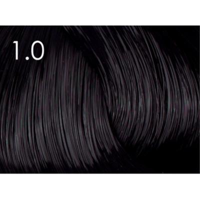 Стойкая крем-краска для волос «Шелковое окрашивание» без аммиака Faberlic тон Черный агат 1.0