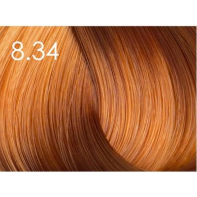 Стойкая крем-краска для волос «Шелковое окрашивание» без аммиака Faberlic тон Янтарно-русый 8.34