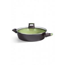 Глубокая сковорода с антипригарным покрытием Faberlic цвет Авокадо, 28 см